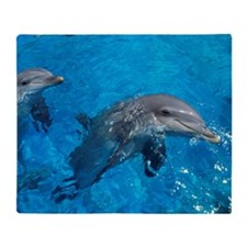 Bottlenose dolphins Throw Blanket