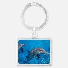 Bottlenose dolphins Landscape Keychain