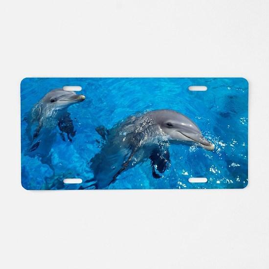 Bottlenose dolphins Aluminum License Plate