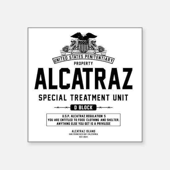 "Alcatraz S.T.U. Square Sticker 3"" x 3"""