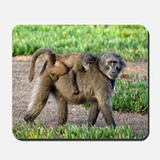 Chacma baboon mother and young Mousepad