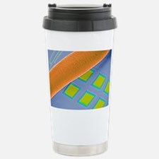 Coloured SEM of micro-a Stainless Steel Travel Mug