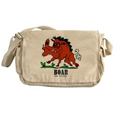 Cartoon Boar by Lorenzo Messenger Bag