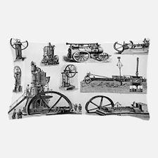 19th century steam engines Pillow Case