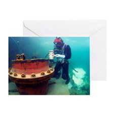 Commercial diver Greeting Card