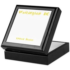 WashingtonDC_12x12_WhiteHouse_WhiteYe Keepsake Box