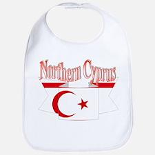 Northern Cyprus flag ribbon Bib