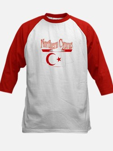Northern Cyprus flag ribbon Kids Baseball Jersey