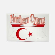 Northern Cyprus flag ribbon Rectangle Magnet