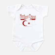 Northern Cyprus flag ribbon Infant Bodysuit