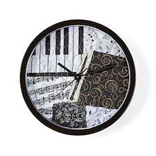0505-sq-oboe Wall Clock