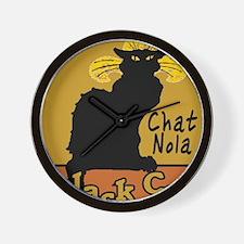 Chat Noir NOLA Wall Clock