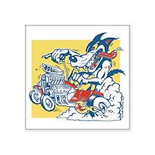 "Hot Rod Wolf by Elliott Mat Square Sticker 3"" x 3"""