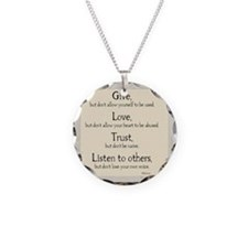 Give but dont allow yourself Necklace
