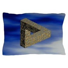Computer artwork of an impossible tria Pillow Case