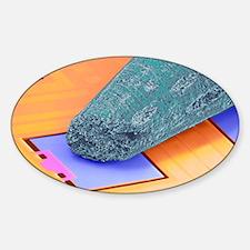 Coloured SEM of micro-accelerometer Decal