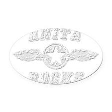 ANITA ROCKS Oval Car Magnet