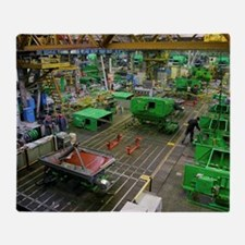 Combine harvester production line Throw Blanket