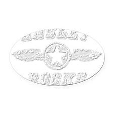 ANSLEY ROCKS Oval Car Magnet