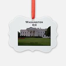 WashingtonDC_13x13_WhiteHouse1 Ornament