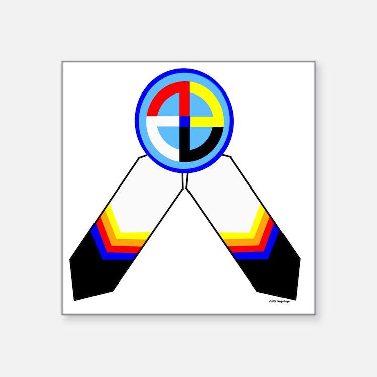 """NATIVE PRIDE Square Sticker 3"""" x 3"""""""