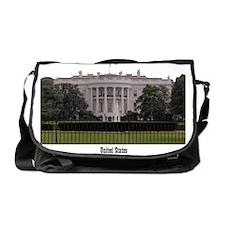 WashingtonDC_13x13_WhiteHouse2 Messenger Bag