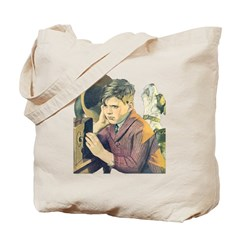 Boy, Dog & Radio Tote Bag