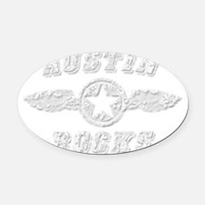 AUSTIN ROCKS Oval Car Magnet