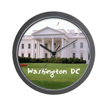 WashingtonDC_10X8_puzzle_mousepad_White Wall Clock