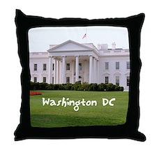 WashingtonDC_10X8_puzzle_mousepad_Whi Throw Pillow