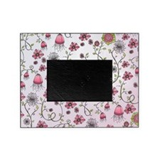 Whimsical pink flowers on pink Picture Frame