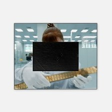 Computer microchip factory worker Picture Frame