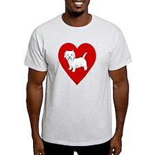 Westie Heart T-Shirt