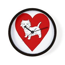 Westie Heart Wall Clock