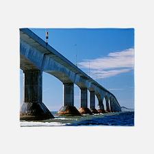 Confederation Bridge, Canada Throw Blanket