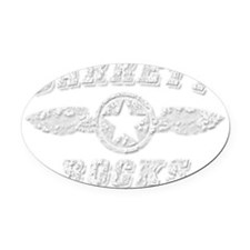 BARRETT ROCKS Oval Car Magnet