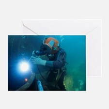 Commercial diver welding Greeting Card