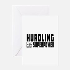 Hurdling Is My Superpower Greeting Card