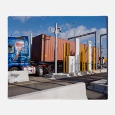 Container port security Throw Blanket