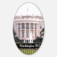 WashingtonDC_5.5x8.5_Journal_WhiteH Sticker (Oval)