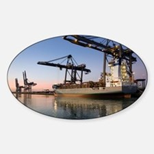 Container ship Sticker (Oval)