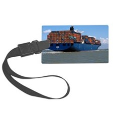 Container ship at sea Luggage Tag