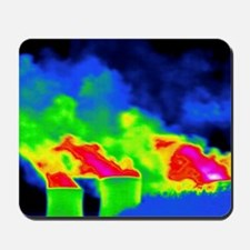 Cooling towers, thermogram Mousepad