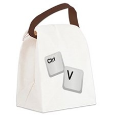 Control V, paste Canvas Lunch Bag