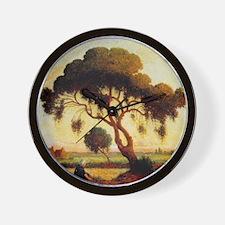 Woman Under Tree Wall Clock