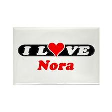 I Love Nora Rectangle Magnet