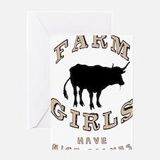 Farm Girls Greeting Card