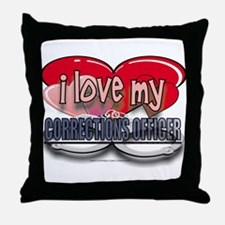 I LOVE MY CORRECTIONS OFFICER Throw Pillow