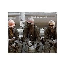 Coal miners Throw Blanket