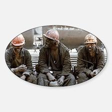 Coal miners Sticker (Oval)